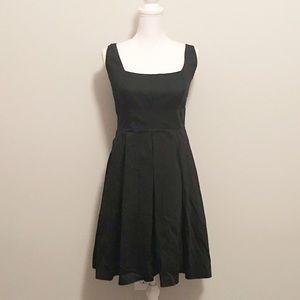 Calvin Klein black flare dress